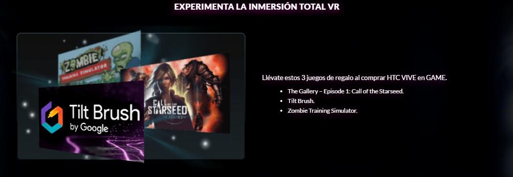 Juegos HTC Vive pack de Lanzamiento